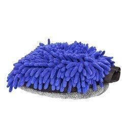 RRC Rękawica z mikrofibry niebiesko-szara do mycia samochodu